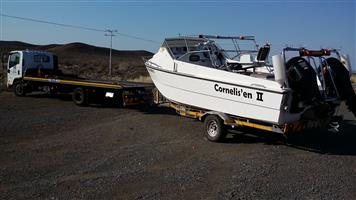 Boat Transport George, Bloemfontein to Gauteng. Trailer & Caravan Transport. Jurgens, Horsebox, Echo 4x4.