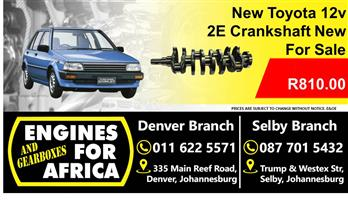 ToyotaTazz 2e Crankshaft New For Sale