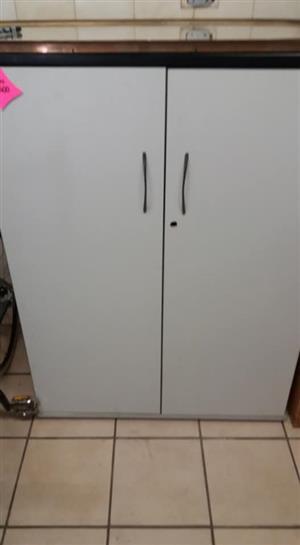 2 Door white kitchen cupboard
