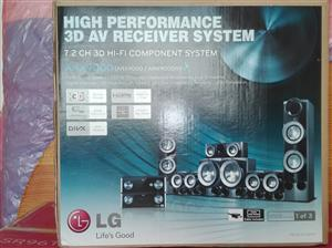LG 7.2 channel 3d blue ray Home Theater System