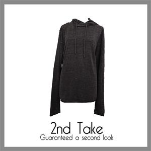 Keep warm this winter. Get this black knit hoodie from Divided
