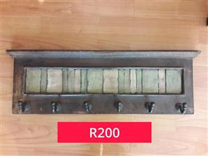 Wooden wall hooks for sale.