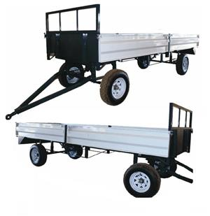 8 Ton Farm Trailer With Dropsides / Plaas Wa Met Valkante New Implement