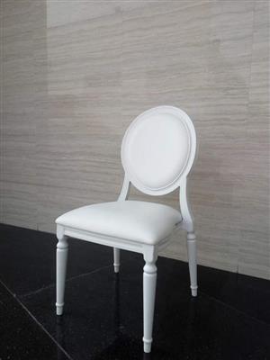 White round back chair