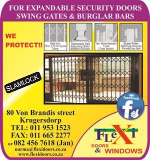 Slam-lock security gates