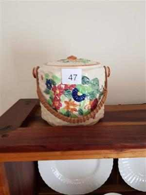 Floral teabag holder pot for sale