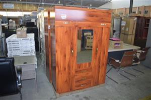 3 Door wooden closet with mirror