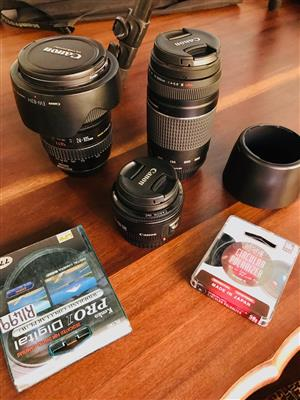 Canon lenses and extras