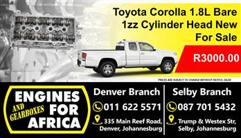 Toyota Corolla 1.8L 1zz Bare Cylinder Head New For Sale