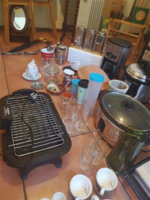 Indoor grill and crockpot for sale