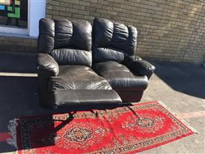 Two Seater Recliner Upper Leather Set.
