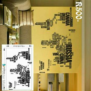 Avant Gard Map of the world Wall Decal