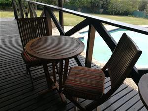 Garden table set for sale x 2