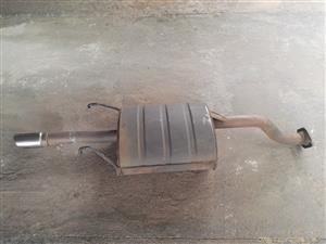 Honda ballade 180i So4 Eberspacher back box with heat shield and chrome tip.