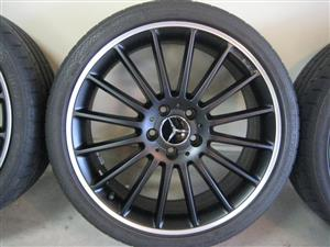 MERCEDES BENZ 225/40/19 MULTI SPOKE RIMS AND RUN FLAT TYRES
