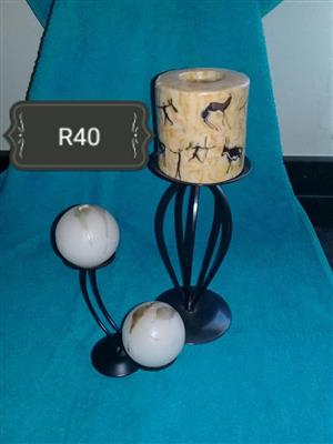 Black candle stand