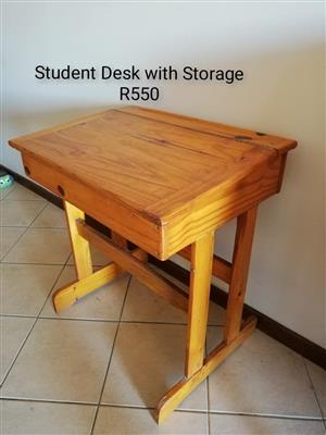 Student desk with drawer for sale