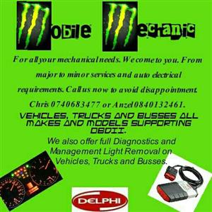 Mobile mechanic and diagnostics services