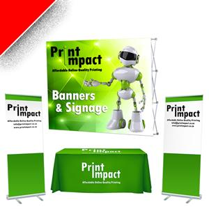 Branding COMBO SPECIAL 2 - Banner Wall, TableCloth, 2x Roller Banners - R4850 ex vat