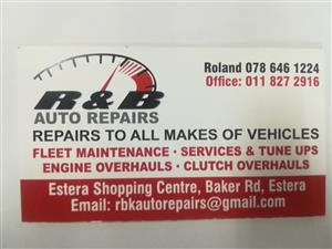 R&B Auto Repairs and services
