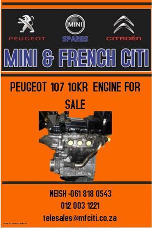 Peugeot 107 10KR engine for sale