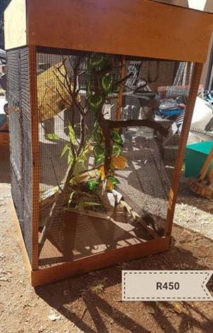Big wooden reptile cage