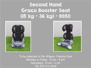 Second Hand Graco Booster Seat (15 kg - 36 kg) - Grey and Black
