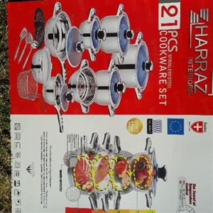 pots stainless steel and tefal  .. germany made