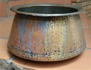 Decorative bronze bowl - Dia 36 x 19 high