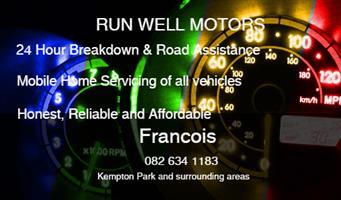 RUN WELL MOBILE MOTOR REPAIRS