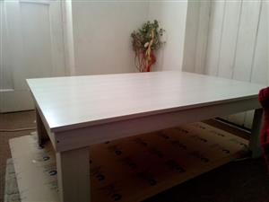 Light oak veneer coffee table