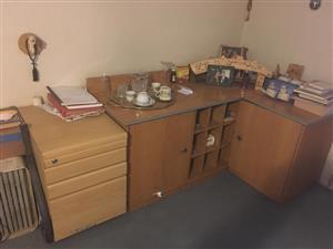 Oak wood office furniture