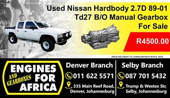 Used Nissan Hardbody 2.7D 89-01 Td27 B/O Manual 5Speed Gearbox For Sale