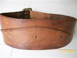 weight lifting safety leather belt