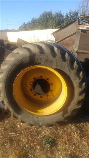 TLB Tyre and Rim For SALE