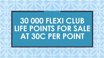 30 000 Flexi Club Life Points for sale at 30c per point