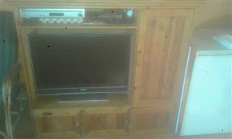 Sony tv 80cm screen met tv kas met laaie en dstv decodeerder