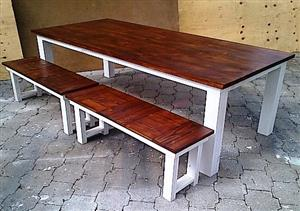 Patio table Chunky Cottage series 2500 combo - Two tone