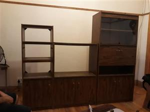Wooden vintage wall unit