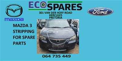 1.6 2009 Mazda 3 stripping for spares