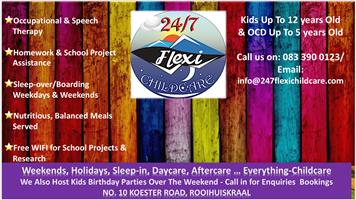 24/7 Flexi-Childcare Services, Daycare, Aftercare, Weekend, Boarding, School Holidays, Hourly drop off services