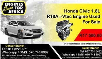 Honda Civic 1.8L R18A i-Vtec Engine Used For Sale