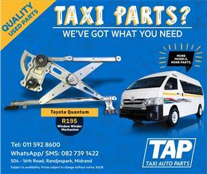 Toyota Quantum Window Winder Mechanism - Taxi Auto Parts TAP