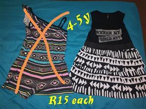 Black and white girl's dress