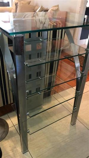 5 Tier glass shelf stand for sale