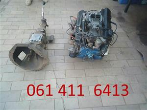 Used/2ND  HAND 3 liter Ford V6 engine and 4 speed manual gearbox