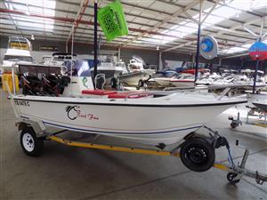 skicraft 15 ft on trailer 2 x 30 hp mercury