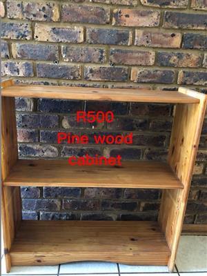 Pine wooden cabinet