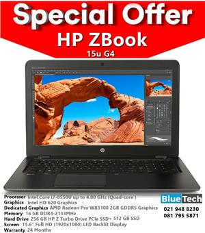 HP ZBook 15u G4 Core i7 Mobile Workstation