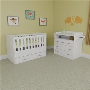Large Cot and 5 Drawer Compactum